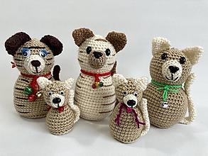 Dekorácie - Háčkovaná hračka zvieratko s roľničkou - 12351141_