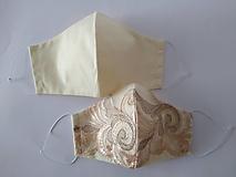 Rúška - Dizajnové rúška pár vanila tvarované dvojvrstvové - 12354247_