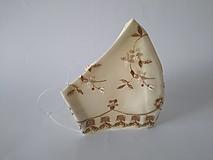Rúška - Svadobné rúško kvietky trojvrstvové  tvarované - 12354267_
