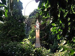 Dekorácie - Vitrážový anděl s kyticí - 12353216_