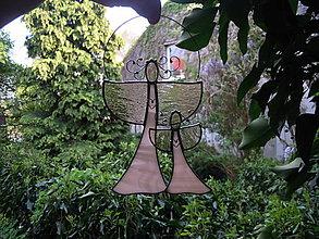 Dekorácie - Andělská dvojice - 12353345_