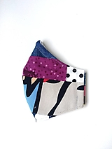 - Rúško patchworkové s fialovou - 12355157_