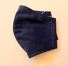 Rúška - Bavlnené rúško - Modré - 2 vrstvy - 12353207_