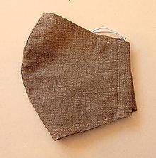 Rúška - Bavlnené rúško - Béžové - 2 vrstvy - 12355093_