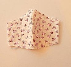 Rúška - Bavlnené rúško - 2 vrstvy Kvety 3. - 12355147_