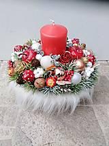 Dekorácie - Vianočný aranžman - 12355432_