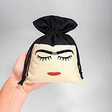 Úžitkový textil - Vrecúško Frida Kahlo - 12355071_