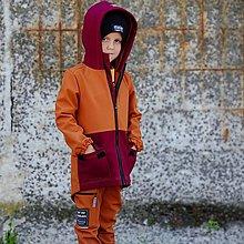 Detské oblečenie - Detská softshell bunda - CARAMEL & WINE - 12353773_