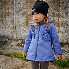 Detské oblečenie - Detská softshell bunda - ASYMETRIC PLUM - 12353924_