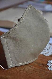 Rúška - Rúško na tvár De Luxe (Béžová bavlna) - 12354493_