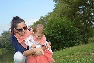 Šatky - Set Mama a dcéra- mušelínové šatky - 12352815_