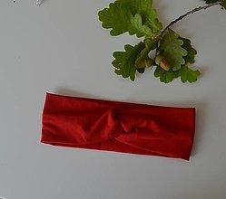 Ozdoby do vlasov - Červená čelenka - 12352837_