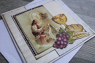 Papiernictvo - ...pohľadnica k 1. sv. prijímaniu... - 12353697_
