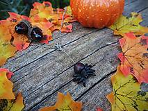 Náhrdelníky - Červený pavúk na sieti - 12352688_