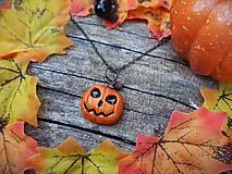 Náhrdelníky - jack o'lantern halloweenska tekvica - 12352695_