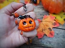 Náhrdelníky - jack o'lantern Halloweenska tekvica s vranou - 12352715_