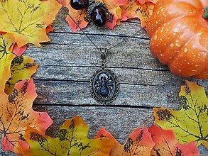 Náhrdelníky - Pavúk v antickom lôžku - 12352702_