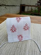 Rúška - Rúško dámske jednovrstvové - 18,5x8 - červenotlač naopak - 12352723_