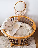 Textil - Béžové hniezdo - 12353256_