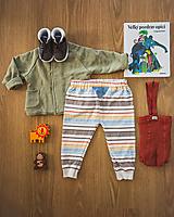 Detské oblečenie - Pásikavé tepláky Jeseň - 12353288_