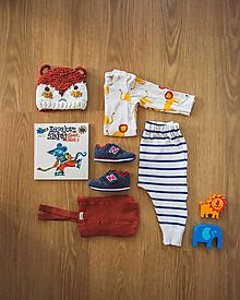 Detské oblečenie - Pásikavé tepláky Paris - 12353314_