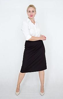 Sukne - Áčková sukňa s predným štepovaním - 12352855_