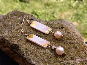 Náušnice - Perlové (Riečna perla) - 12358047_