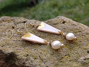 Náušnice - Perlové (Prírodná perla) - 12358065_