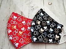 Rúška - Bavlnené rúška... Teenager No. 4 (Psy na tmavozelenej) - 12356883_