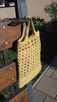 Nákupné tašky - Taška háčkovaná - 12357373_