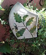"""Rúška - Ručne maľované rúška """" Stromy """" (prírodné dámske listy) - 12356524_"""