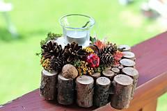 Dekorácie - Jesenný svietnik - 12356168_