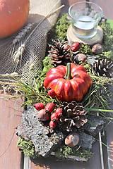 Dekorácie - Jesenný aranžmán - 12356218_