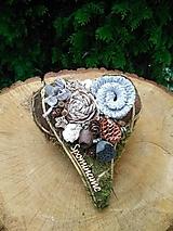 prírodné srdce na hrob 22 cm