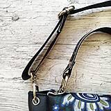 Kabelky - Kabelka SWEET BAG - farebný folk na čiernom podklade - 12357694_