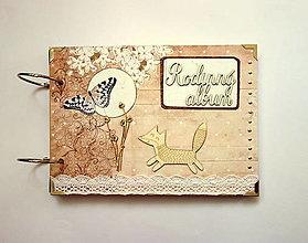 Papiernictvo - Rodinný fotoalbum A5 líška a mesiac - 12356285_