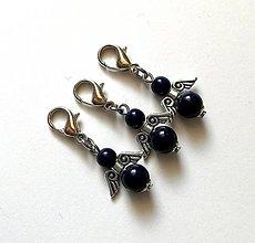 Kľúčenky - Prívesok COLOR anjelik malý (modrá tmavá) - 12357246_