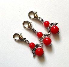Kľúčenky - Prívesok COLOR anjelik malý (červená) - 12357293_