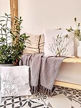 Úžitkový textil - Darčekové balenie vankúšov - trávy - 12356324_