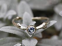 Prstene - Vetvičkový s rozprávkovým akvamarínom - 12356404_