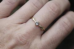 Prstene - Vetvičkový s rozprávkovým akvamarínom - 12356411_