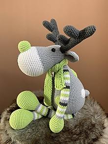 Hračky - sobík Rudolf - v zelenom - 12356395_