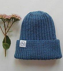 Detské čiapky - Detská čiapka  (sivo-modrá) - 12356783_