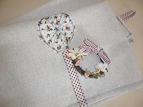 Úžitkový textil - Ľanové utierky-sada 2 ks - 12356725_