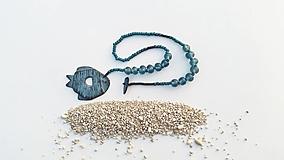 """Náhrdelníky - Náhrdelník """"Modrá ryba"""" - 12358340_"""