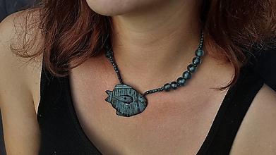 """Náhrdelníky - Náhrdelník """"Modrá ryba"""" - 12358335_"""