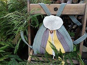 Batohy - Háčkovaný batoh jesenné farby - 12357316_
