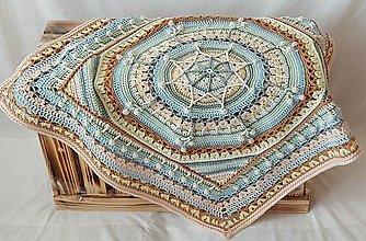 Úžitkový textil - Detská deka s motívom mandaly - 12356492_