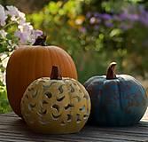 Svietidlá a sviečky - keramická tekvica - svietnik - 12356061_