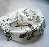 Rúška - Ochranné rúško na tvár s drôtikom - dvojvrstvové - skladom - 12357880_